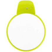 Promobo Suction Mirror with LED Illumination Magnifying Double Sided Green