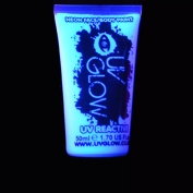 UV Glow Neon Face and Body Paint - 1x 50ml White by UV Glow