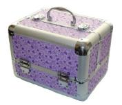 Lilac Hearts Hearts Aluminium Beauty Make up Vanity Case Box Nail hair