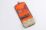 Hxhome Portable Travel Folding Make up Toiletry Bags with Hook Printing Organiser Bags Cosmetic Bags