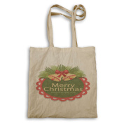 HAPPY MERRY CHRISTMAS XMAS FUNNY NOVELTY NEW Tote bag l55r