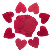 Burgundy Heart Shaped Silk Petals