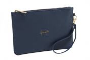 Willow & Rose 'Sparkle' Navy Beauty Bag