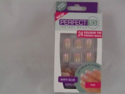 Perfect 10 Instant Nails - 24 Colour Tip French Nails - Pink