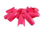 100 Hot Pink False Fake Nails Nail Tips French Acrylic FREE GLUE by 5starwarehouse
