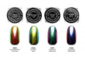 The Ultimate Chrome Nail Powder Kit by ThumbsUp Nails - Illuminating Fuchsia, Galactic Lime, Twilight Emerald and Electric Sapphire