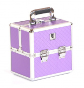 Urbanity Small Aluminium Makeup cosmetic Beauty Vanity Case Box Diamond lilac