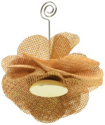 Kate Aspen Burlap Rose Place Card Holder