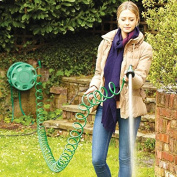 50ft 15m Garden Curly Self-Coil Garden Water Hose Pipe Spray Gun Adjustable