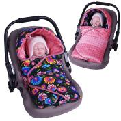 Sevira Kids Baby Boys' Sleeping Bag black Flowers Noir 0 - 6 mois