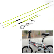 BMX Gyro Brake Cables (COMPLETE SET) Front + Rear (Upper + Lower) Spinner Rotor - Green