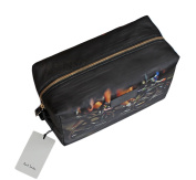 PAUL SMITH MEN'S CYCLE WASHBAG, TOILETRY BAG BLACK
