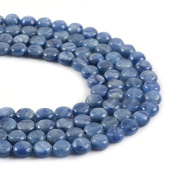 Natural Gemstone Kyanite 8mm Coin Disc Loose Beads 16""