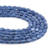 "Natural Gemstone Kyanite 8mm Oval Loose Beads 16"""