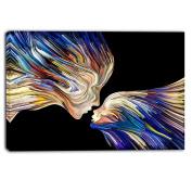 "Designart PT6047-100cm - 80cm Metaphorical Mind Painting Sensual"" Canvas Artwork, Blue, 100cm x 80cm"