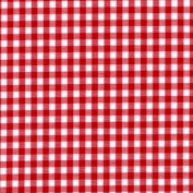 Gingham 1/4 Chequered Poly Cotton Fabric Prints - 2.5cm Wide - Sold By The 3 Yard Bolt