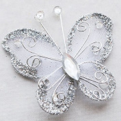 Chenkou Craft Organza Wire Butterfly Wedding Decorations 26pcs