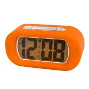 Tinksky Travel Digital Alarm Clock Orange with Backlight Mute design Snooze Function