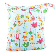 Waterproof Double Zipper Wet Dry Reusable Nappy Bag