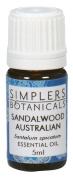 Essential Oil Sandalwood Australian Organic Simplers Botanicals 5 ml Liquid by Simplers Botanicals