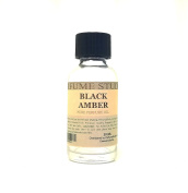 Black Amber Perfume Oil for Perfume Making, Personal Body Oil, Soap, Candle Making & Incense; Splash-On Clear Glass Bottle. Premium Quality Undiluted & Alcohol Free