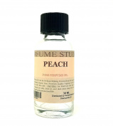 Peach Perfume Oil for Perfume Making, Personal Body Oil, Soap, Candle Making & Incense; Splash-On Clear Glass Bottle. Premium Quality Undiluted & Alcohol Free