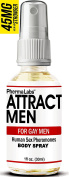 PhermaLabs Pheromones Body Spray For Gay Men- 1oz (30 ml)- Attract Men Instantly- Highest Concentration Of Pheromones Possible- Increases Sex Drive- Fresh & Long-lasting Smell 45mg