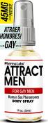 PhermaLabs Feromonas Body Spray para Gay Hombres- 30ml - Atraer Hombres instantáneamente- Mayor Concentración De Feromonas Posible- Aumenta El libido- y Aroma fresco de larga duración 45mg