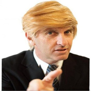 YOKWI Man Wig short blonde synthetic Hair like Trump Hair Style