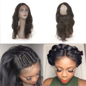 360 Lace Frontal Brazilian Virgin Hair Body Wave With Baby Hair Lace Band Frontal Closure 100% Human Hair
