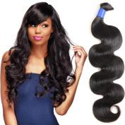 GLUNA Hair 8A Grade Unprocessed Brazilian Virgin Hair Body Wave 1 Bundle Human Hair Bulk Natural Colour 60cm