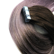 Secrect Stylist 50cm 20PCS Skin Tape In Hair Extensions Remy Human Hair Omber Straight Mix Colours 50gr/lot