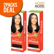 2-Pack Deal! Model Model Human Hair Blend Weave Pose Bounce 36cm