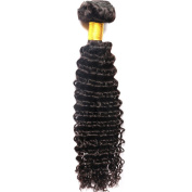 My-Lady 100% Brazilian Virgin Human Hair Extensions - Deep Wave - Natural Black 1Bundle,18""