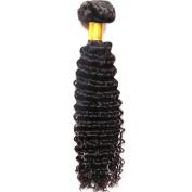 "My-Lady 100% Brazilian Virgin Human Hair Extensions - Deep Wave - Natural Black 1Bundle,18"""