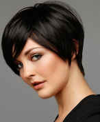 Prime Kitty Silk Top Lace Front Wigs Natural Straight 15cm 130% Density Natural Colour Human Hair Wigs