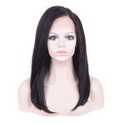 Auspiciouswig Full Lace Human Hair Glueless Wigs Virgin Brazilian Hair Coarse Yaki for Black Women