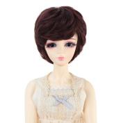 Miss U Hair 9-25cm 1/3 BJD MSD DOD Pullip Dollfie Doll Wig Short Wavy Hair Not for Human