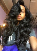 Freya Hair Brazilian Human Remy Hair Glueless Body Wave Full Lace Wig With Baby Hair Bleached Knots Medium Brown Lace Colour Medium Cap Size 60cm #1B