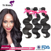 T1 Hair Natural Beauty Brazilian Body Wave Virgin Human Hair Extensions 3 bundles 300g Natural Black Can be dyed and Bleached