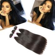 B & P Hair 18 20 60cm Brazilian Hair Straight 3 Bundles, 95-100g/Bundle, 6A Unprocessed Brazilian Virgin Human Hair Extensions Natural Colour Hair Weave