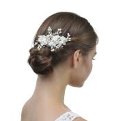 Remedios Handmade Vintage Pearl Crystal Wedding Hair Clip Hair Pieces