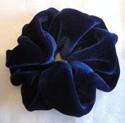Royal Blue Velvet Scrunchies-Small