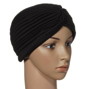 Turban Head Wrap Band Chemo Bandana Pleated Cap Hat