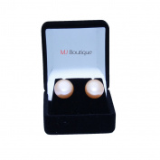 Huge Freshwater Cultured Pearl Earrings Studs 10mm - 12mm Gift for her