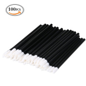 MLMSY 100 PCS Disposable Lip Brushes Lipstick Gloss Wands Applicator Perfect Makeup Tool Kits One-time Lip Brush with Black Stem