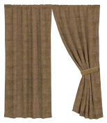 HiEnd Accents Faux Suede Curtain, Light Brown
