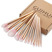Kwok Brush,12PCS Make Up Foundation Eyebrow Eyeliner Blush Cosmetic Concealer Brushes