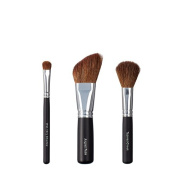 VEGAN LOVE Wet/Dry Shadow Angled Face Brush Trio, Tapered Cheek