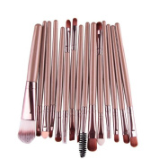 Kwok Brush,15 pcs/Sets Eye Shadow Foundation Eyebrow Lip Brush Makeup Brushes Tool